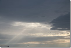 Ray of light in clouds