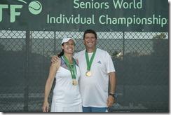 Nov 10, 2017; Miami, FL, USA; Monica Liliana Patron (ARg0 and Fernando De Marinis (ARG) XD50 Gold