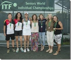 Nov 10, 2017; Miami, FL, USA; Petra Dobusch (GER), Shabnam Siddiqi El Hatri (GER), Cristiane Tassi (BRA), Simone Vasconcellos-Calves (BRA), Gretchen Rush (USA) and Rosalyn Nideffer (USA) WD50