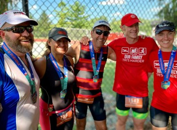 Paul Zellner's family in runner and triathlete