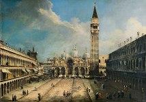 CANALETTO (Giovanni Antonio Canal)_La Plaza de San Marcos en Venecia, .c. 1723-1724