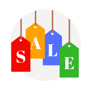 sale, icon, sign