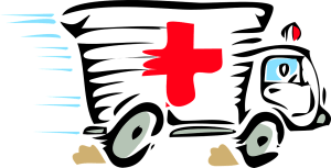 ambulance, paramedic, red