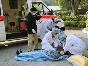 medical emergency, emergency ambulance, fire drill