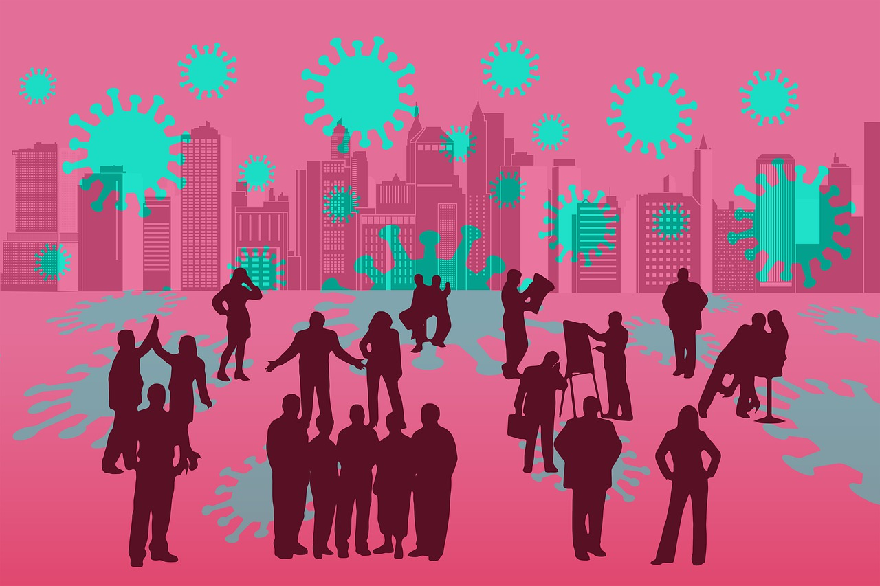 businessmen, communication, skyline