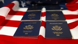 usa, passport, flag