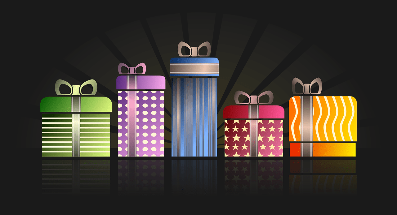 presents, gifts, gift boxes
