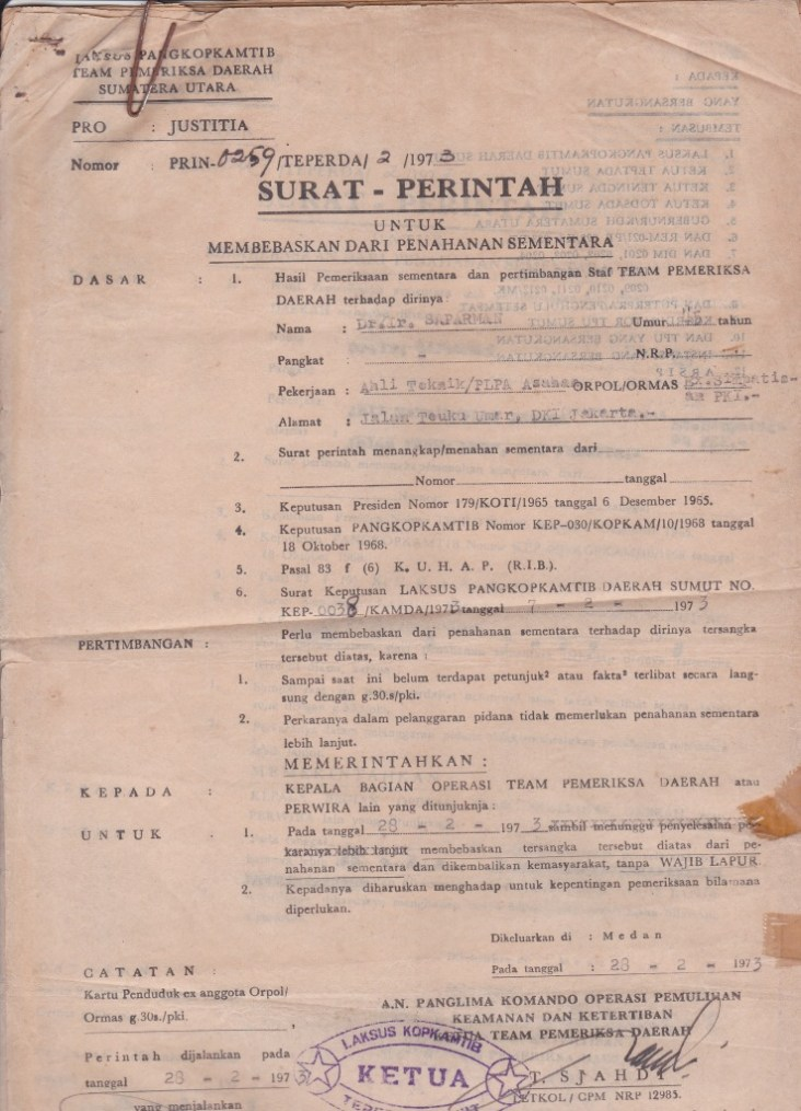 surat perintah