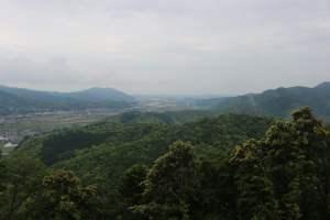 月山富田城からの眺め