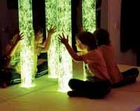 Finding inspiration in a sensory room. Photo courtesy of Experia: www.experia-innovations.co.uk