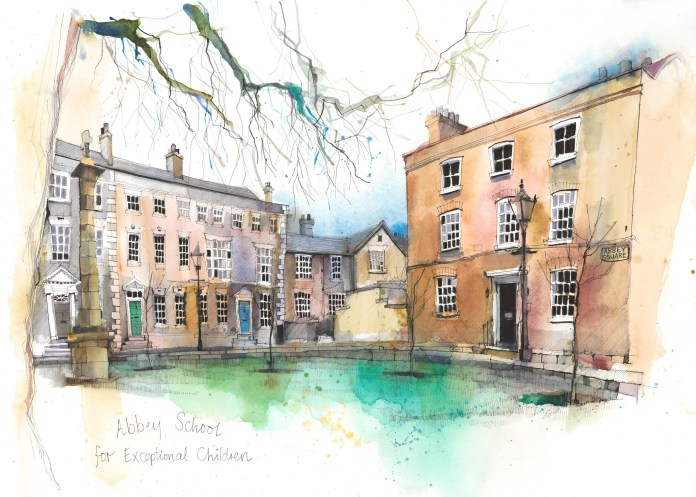An artist's impression of Abbey School, the SEND school mentioned in the article