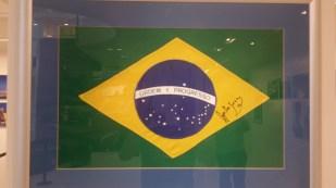 Signed Senna Brazil Flag