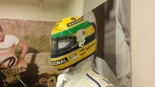 "Senna original ""Driven to Perfection"" Bercy crash helmet"