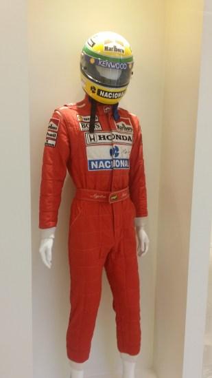 Senna McLaren Crash Helmet and Overalls