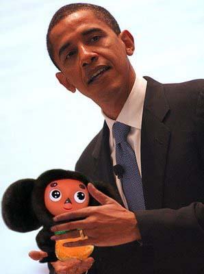 Barack Obama and Cheburashka