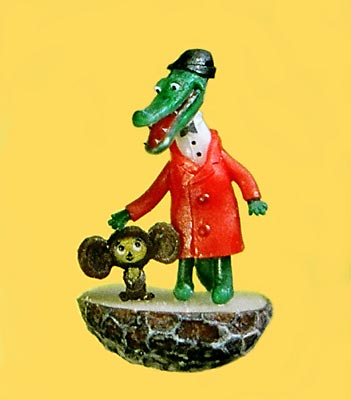 Crocodile Gena and Cheburashka