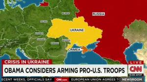 Ukraine Pro-US troops map