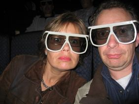 Lilian Z. und Michael S. mit Imax 3D-Brille in Loews Cinema, San Francisco