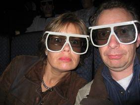 Lilian Z. und Michael S. mit Imax 3D-Brille in Loews Cinema, San Francisco