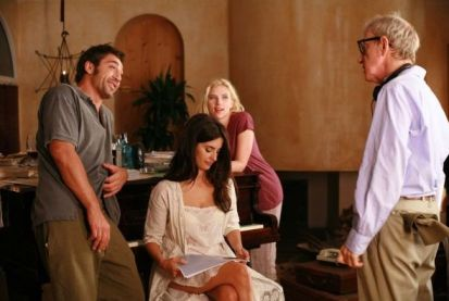 "Woody Allen bei den Dreharbeiten zu ""Vicky Cristina Barcelona"""