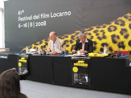 BAK Chef Jauslin und Filmchef Nicolas Bideau an der PK In Locarno (c) sennhauser