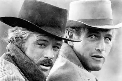 "Robert Redford und Paul Newman in ""Butch Cassidy and the Sundance Kid"" von George Roy Hill, 1969"