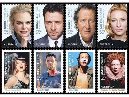 Australia legends09 stamps