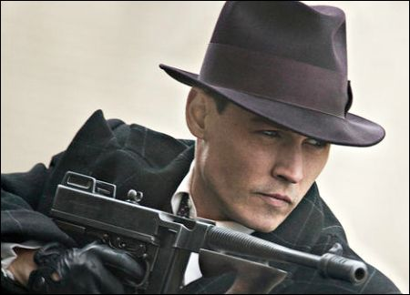 Johnny Depp als John Dillinger in Public Enemies UIP 2009