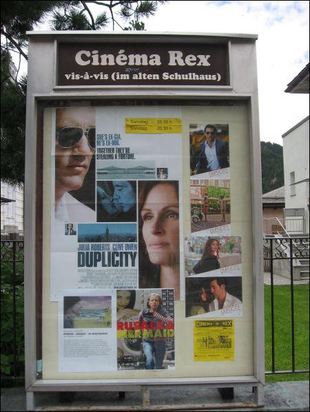 Pontresina Cinema Rex Schaukasten 22.06