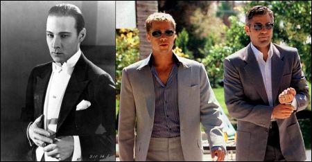 Schöne Filmmänner Valentino Pitt Clooney