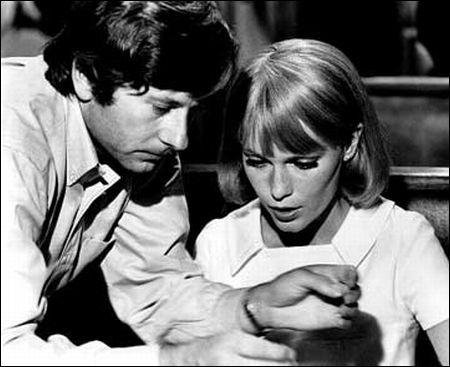 Polanski mit Mia Farrow bei den Dreharbeiten zu 'Rosemary's Baby' © Paramount