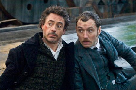 Robert Downey jr. und Jude Law in 'Sherlock Holmes' © Warner Bros