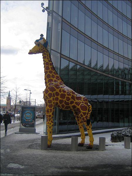 Lego Giraffe am Potsdamer Platz ©Häring