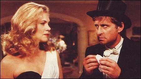 Kathleen Turner und Michael Douglas in 'The War of the Roses' von 1989