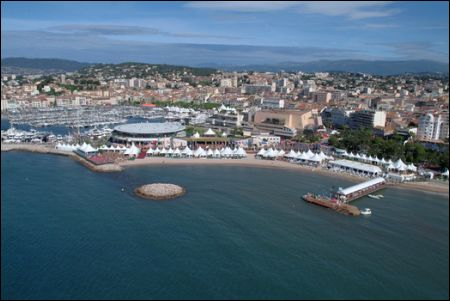 Cannes Luftansicht