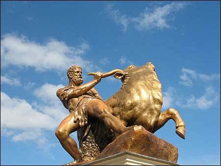 Herkules säubert den Stall des Augias