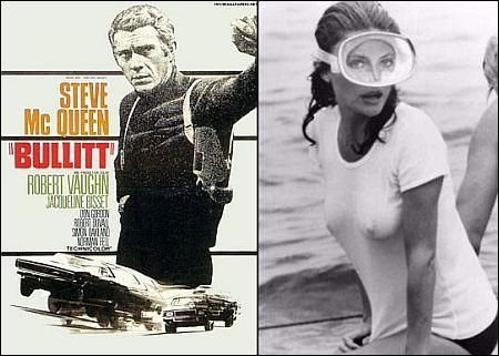 Poster 'Bullit' mit Steve McQueen, Jacqueline Bisset in 'The Deep'