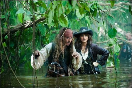 Johnny Depp und Penelope Cruz in 'Pirates 4'