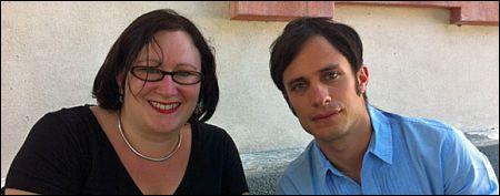 Brigitte Häring mit Gael Garcia Bernal in Locarno