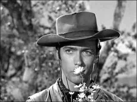 Clilnt Eastwood als Seriencowboy Rowdy Yates in 'Rawhide'