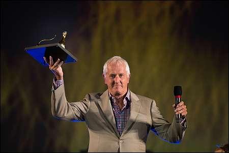 Garrett Brown mit dem Vision Award 2014 am 67. Filmfestival von Locarno