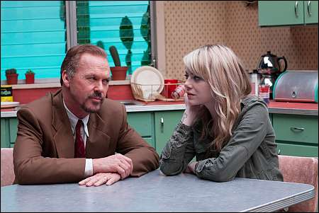 Michael Keaton und Emma Stone in Birdman