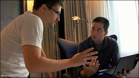 Edward Snowden und Glenn Greenwald in 'Citizenfour' © First Hand Films