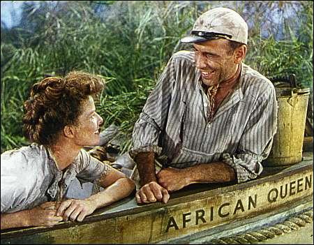 Katharine Hepburn Humphrey Bogart The African Queen 1951 Quelle George Eastman House Rochester © ITV Park Circus