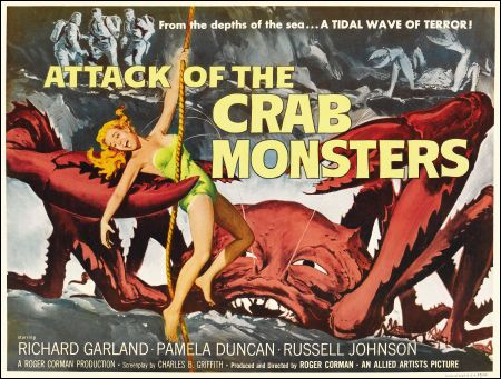 Poster für Roger Cormans 'Attack of the Crab Monsters' von 1957