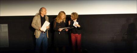 'Raving Iran': Produzent Christian Frei, Regisseurin Susanne Regina Meures, Corine Mauch © sennhauser