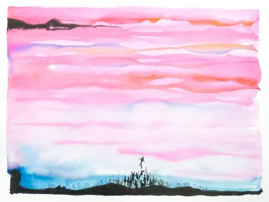 <em>Untitled</em>, 2017, ink on paper, 16 x 20 in.