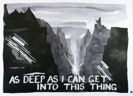 <em>Untitled</em>, 2017, ink on paper, 30.5 x 42 in.