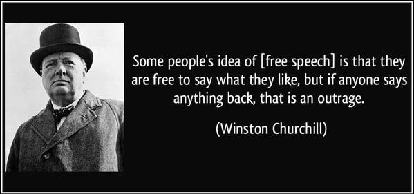 Churchill free speach