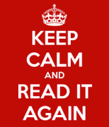 Keep calm and read